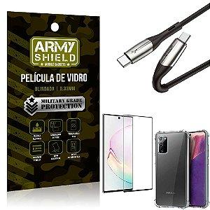 Cabo Usb Tipo C para Usb-C HS-167 Samsung Note 20 + Capinha + Película 3D - Armyshield