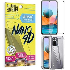 Kit Redmi Note 10 Pro Película Premium Nano 9D + Capa Anti Impacto - Armyshield
