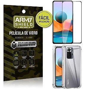 Kit Redmi Note 10 Pro Película 3D Fácil Aplicação + Capa Anti Impacto - Armyshield