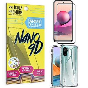 Kit Redmi Note 10S Película Premium Nano 9D + Capa Anti Impacto - Armyshield