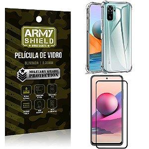 Kit Redmi Note 10S Capinha Anti Impacto + Película de Vidro 3D - Armyshield
