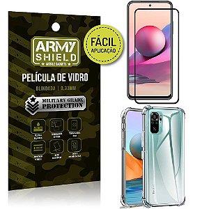 Kit Redmi Note 10S Película 3D Fácil Aplicação + Capa Anti Impacto - Armyshield