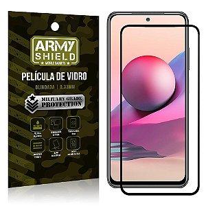 "Película de Vidro Redmi Note 10S Blindada para tela 6,4"" Full Cover - Armyshield"