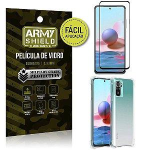 Kit Redmi Note 10 Película 3D Fácil Aplicação + Capa Anti Impacto - Armyshield