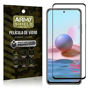 "Película de Vidro Redmi Note 10 Blindada para tela 6,4"" Full Cover - Armyshield"