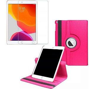 Capa Giratória Pink + Película de Vidro Blindada iPad 7/8 Modelo 2019/2020 10.2 - Armyshield