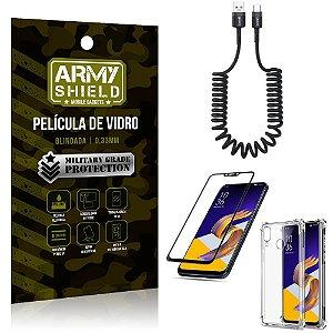 Cabo Espiral Zenfone 5Z ZS620KL + Capinha Anti Impacto + Película 3D - Armyshield