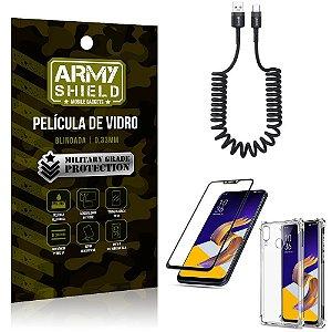 Cabo Espiral Zenfone 5 ZE620KL + Capinha Anti Impacto + Película 3D - Armyshield