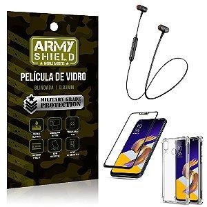 Fone Bluetooth HS-615 Zenfone 5 ZE620KL + Capinha Anti Impacto + Película 3D - Armyshield