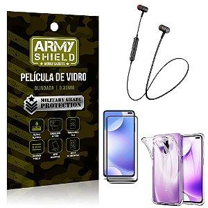 Fone Bluetooth HS-615 Redmi K30 + Capinha Anti Impacto + Película 3D - Armyshield