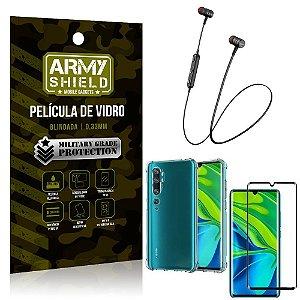Fone Bluetooth HS-615 Mi Note 10 - Note 10 Pro + Capinha Anti Impacto + Película 3D - Armyshield