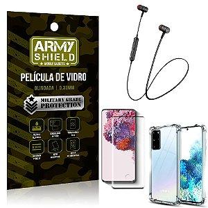 Fone Bluetooth HS-615 Samsung S20 Plus + Capinha Anti Impacto + Película 3D - Armyshield