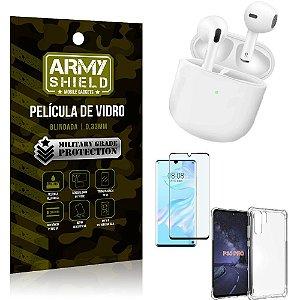 Fone Bluetooth LY-113 Huawei P30 Pro + Capinha Anti Impacto + Película 3D - Armyshield