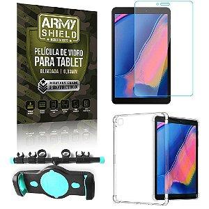 Suporte de Tablet para Carro Samsung Tab A T290/T295 + Capinha Antishock + Pelicula Armyshield