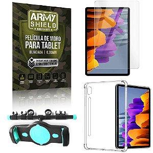 Suporte de Tablet para Carro Samsung S7 11.0 T870/T875 + Capinha Antishock + Pelicula Armyshield