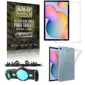 Suporte de Tablet para Carro Samsung S6 Lite 10.4 P610/P615 +Capinha Antishock + Pelicula Armyshield