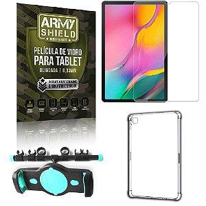 Suporte de Tablet para Carro Samsung A 10.1 T510/T515 + Capinha Antishock + Pelicula Armyshield