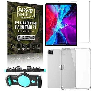 Suporte de Tablet para Carro iPad Pro 11 2020 + Capinha Antishock + Pelicula Armyshield