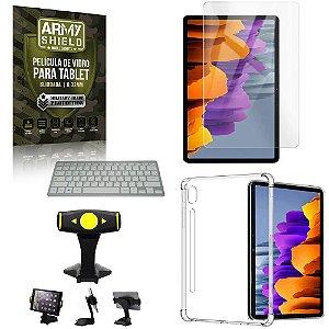 Suporte de Mesa para Tablet Samsung S7 11.0 T870/T875 +Teclado +Capa Anti Shock +Pelicula Armyshield