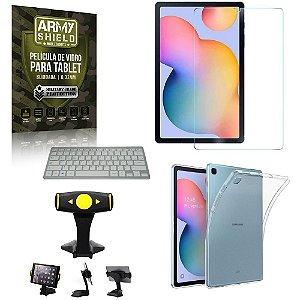 Suporte de Mesa para Tablet Samsung S6 Lite 10.4 P610/P615 +Teclado + Capa Anti Shock+ Pelicula