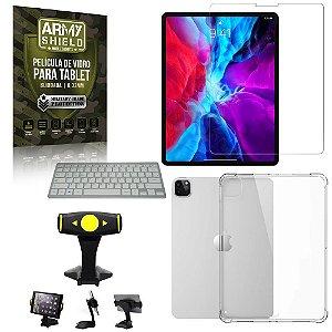 Suporte de Mesa para Tablet iPad Pro 11 2020 +Teclado + Capa Anti Shock + Pelicula Armyshield