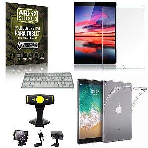 Suporte de Mesa para Tablet iPad Pro 10.5 2017 +Teclado + Capa Anti Shock + Pelicula Armyshield
