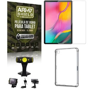 Suporte de Mesa para Tablet Samsung A 10.1 T510/T515 + Capinha Antishock + Pelicula Armyshield