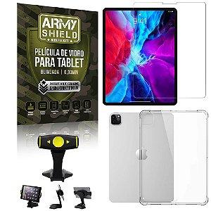 Suporte de Mesa para Tablet iPad Pro 11 2020 + Capinha Antishock + Pelicula Armyshield