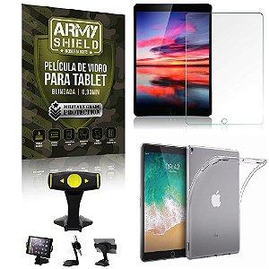 Suporte de Mesa para Tablet iPad Pro 10.5 2017 + Capinha Antishock + Pelicula Armyshield
