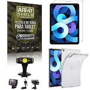 Suporte de Mesa para Tablet iPad Air 10.9 2020 + Capinha Antishock + Pelicula Armyshield