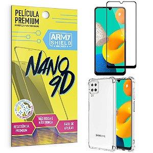 Kit Samsung M32 Película Premium Nano 9D + Capa Anti Impacto - Armyshield