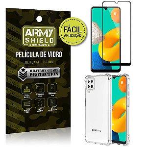 Kit Samsung M32 Película 3D Fácil Aplicação + Capa Anti Impacto - Armyshield