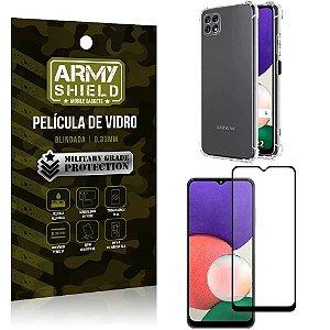 Kit Capinha Anti Impacto Samsung A22 5G + Película de Vidro 3D - Armyshield