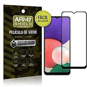 Película de Vidro 3D Samsung A22 5G Fácil de aplicação - Armyshield