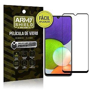 Película de Vidro 3D Samsung A22 4G Fácil de aplicação - Armyshield