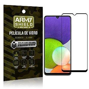 "Película de Vidro Samsung A22 4G Blindada para tela 6,4"" Full Cover - Armyshield"