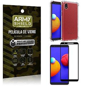 Kit Capinha de Silicone Samsung A01 Core + Película de Vidro 3D - Armyshield