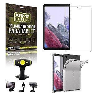 Suporte de Mesa para Tablet Samsung A7 Lite 8.7 T220/T225 + Capinha Antishock + Pelicula Armyshield