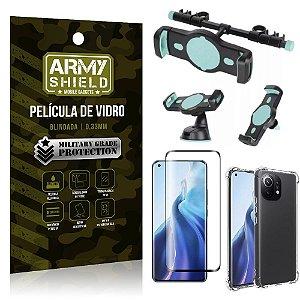 Kit Xiaomi Mi 11 Suporte Veicular 3 em 1 + Película 3D + Capa Anti Impacto - Armyshield