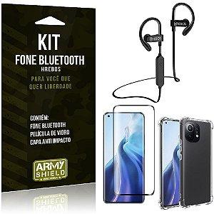 Kit Xiaomi Mi 11 Fone Bluetooth HS188 + Película 3D + Capa Anti Impacto - Armyshield