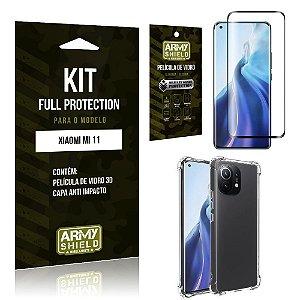 Kit Xiaomi Mi 11 Full Protection com Película de Vidro 3D + Capa Anti Impacto - Armyshield