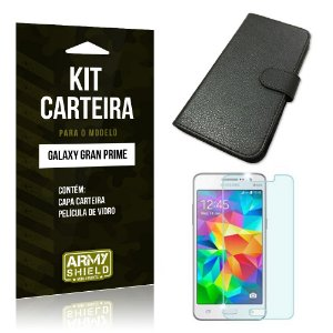 Kit Carteira Samsung g530 tv Película de Vidro + Capa Carteira -ArmyShield