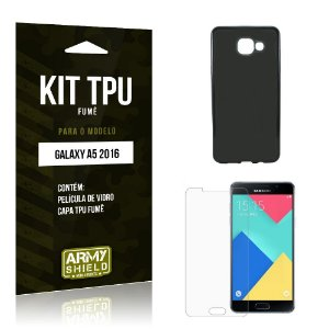 Kit Tpu Fumê Samsung a5 II Película de Vidro + Capa Tpu Fumê -ArmyShield