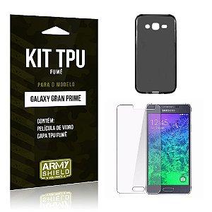 Kit Tpu Fumê Samsung g530 tv Película de Vidro + Capa Tpu Fumê -ArmyShield