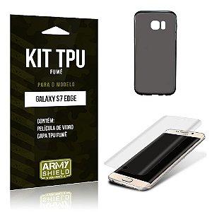 Kit Tpu Fumê Samsung s7 edge Película de Vidro + Capa Tpu Fumê -ArmyShield