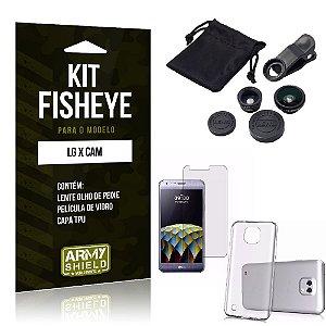 Kit Fisheye Lg x cam Película de Vidro + Capa Tpu e Lente Olho de Peixe -ArmyShield