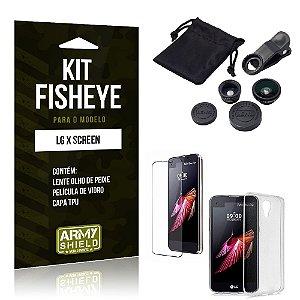 Kit Fisheye Lg x screen Película de Vidro + Capa Tpu e Lente Olho de Peixe -ArmyShield