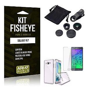 Kit Fisheye Samsung a7 Película de Vidro + Capa Tpu e Lente Olho de Peixe -ArmyShield
