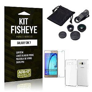 Kit Fisheye Samsung on 7 Película de Vidro + Capa Tpu e Lente Olho de Peixe -ArmyShield