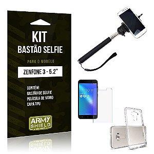 Kit Bastão Selfie Asus Zenfone 3/5.2 ZE520KL - ArmyShield